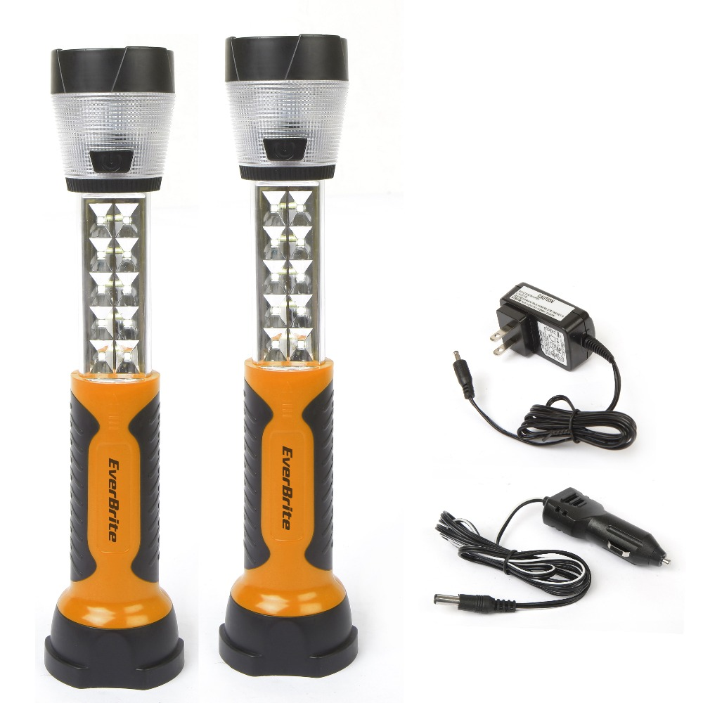 цена EverBrite Emergencies Light Camping Light Rechargeable Extendable Worklight with hook 2PC/Lot