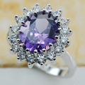 Amethyst 925 Sterling Silver Top Quality Fancy Jewelry wedding  Ring Size 5 6 7 8 9 10 11 F1173