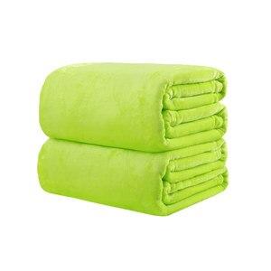 Image 5 - CAMMITEVER Manta de tela suave para el hogar, mantas de franela de Color sólido, muy cálidas, para sofá/cama/mantas de viaje, sábanas