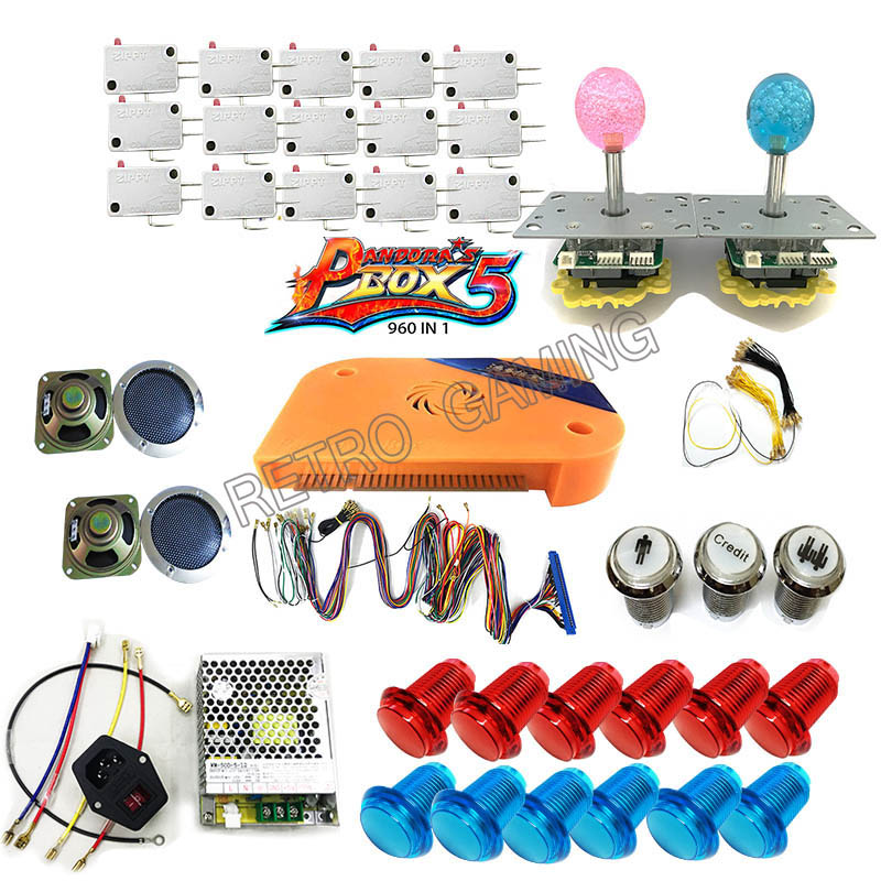DIY Arcade parts Bundles kit With Joystick Pushbutton Microswitch button 960 in 1 Game PCB to 2 Players Arcade Machine