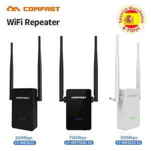 Image 1 - Comfast 300   750 mbps sem fio wifi repetidor amplificador de sinal 2 * 5dbi antena ponto de acesso sem fio ap wi fi alcance estender roteador
