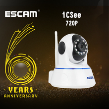 Escam QF002 Mini kamera IP HD 720P CCTV System kamer bezpieczeństwa P2P IR Cut dwukierunkowy dźwięk noc wizja