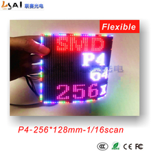 цена на P4/smd/indoor/rgb/flexible full color led/module/dot matrix billboard use for special shapes/led screen/256*128mm,16scan