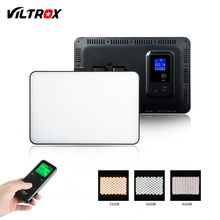 Viltrox VL 400T 40W kamera LED Video Video ışığı bi renk dim + uzaktan kumanda Canon Nikon için Facebook youTube canlı