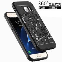 Для Samsung Galaxy S7 Чехол Для Galaxy S7 Назад Охватывает Случаи Телефона антидетонационных Броня Кремния Тонкий Защита Принципиально Капа