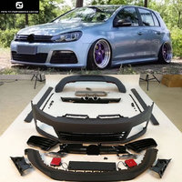 Golf 6 R20 Car Body Kits PP Unpainted Front bumper rear bumper side skirts exhaust for Volkswagen VW Golf 6 MK6 R20 style