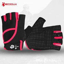 2016 new boodun Fitness Gloves Yoga wear anti-skid breathable Lycra material dumbbell gym sports gloves