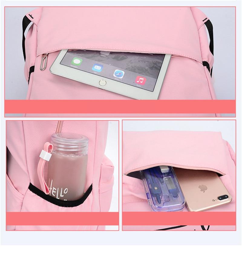(6)sac à dos pour filles adolescentes