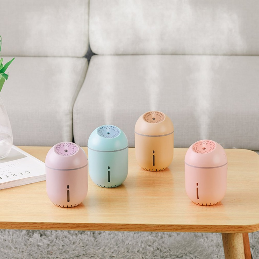 лучшая цена Creative Cup Shaped USB Air Humidifier Essential Oil Diffuser Colorful LED Night Lamp Mini Portable Home Humidifier