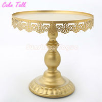 Gold Cake Stand With Crystal Pendant Cupcake Stand 1 Piece Wedding Party Decoration Supplier Cake Tools