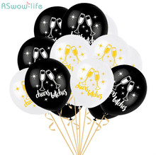 25pcs Cheers Letter LaTeX Balloons Hen Party Bachelor Decoration Festival Supplies