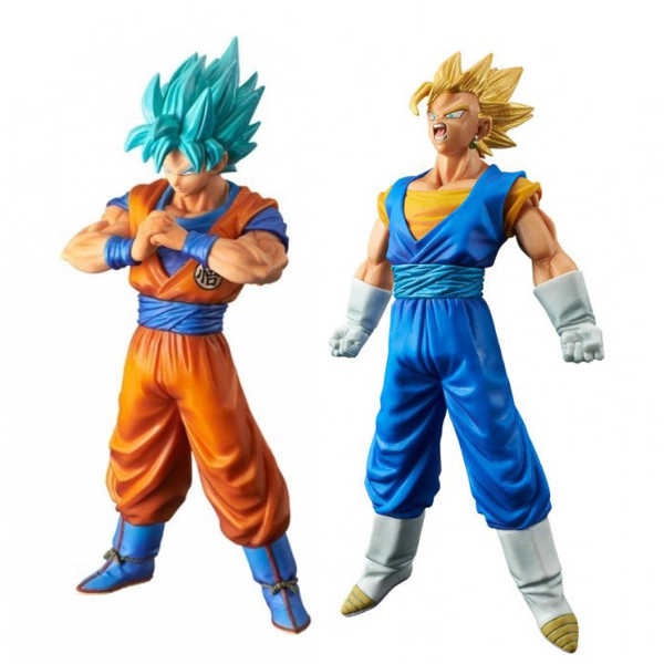 Dragonball Super DXF The Super Warriors Vol.4 Super Saiyan Vegetto & God Goku Figure Collectible Mascot Toys 100% Original dragon ball super original banpresto dxf the super warriors vol 4 collection figure super saiyan god super saiyan son goku