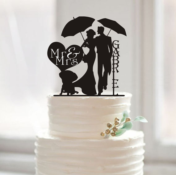 Funny Wedding Cake Topper Mr And Mrs Last Name Personalized Bride