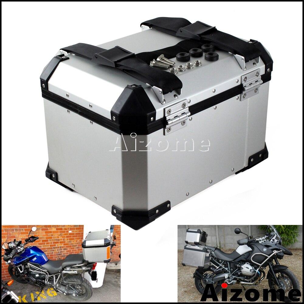 Universal Motorcycle Top Case Aluminum 45L Cargo Tail Box Motorbike Street Bike Rear Luggage Lock Topcase