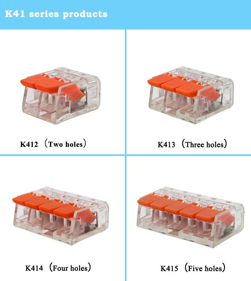 50/100 PCS Substituir Conectores WAGO 221 Series Mini Fio Rápido, Compacto Universal Conector de Fiação, push-in Condutor Terminal Block