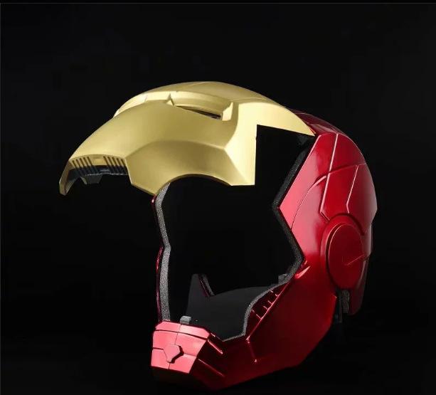 Marvel Avengers Iron Man Helmet Cosplay 1:1 Light Led Ironman Mask PVC Action Figure Toys