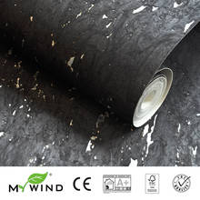 2019 MY WIND Dark Black-Silver Wallpapers Luxury 100% Natural Material Safety Innocuity 3D Wallpaper In Roll home noble Decor