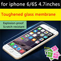Súper delgada de cristal templado de cine para iphone 4 4s 5s 5c se 6 s 6 más Alta Transparent Screen Protector film ultra delgado de 0.26mm