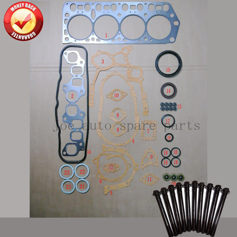 4Y 4YEC полный комплект прокладок комплект головки блока цилиндров болт для Toyota Hilux/Liteace/DYNA 200/Stout 2237cc 2.2L 1988 2001 50126000