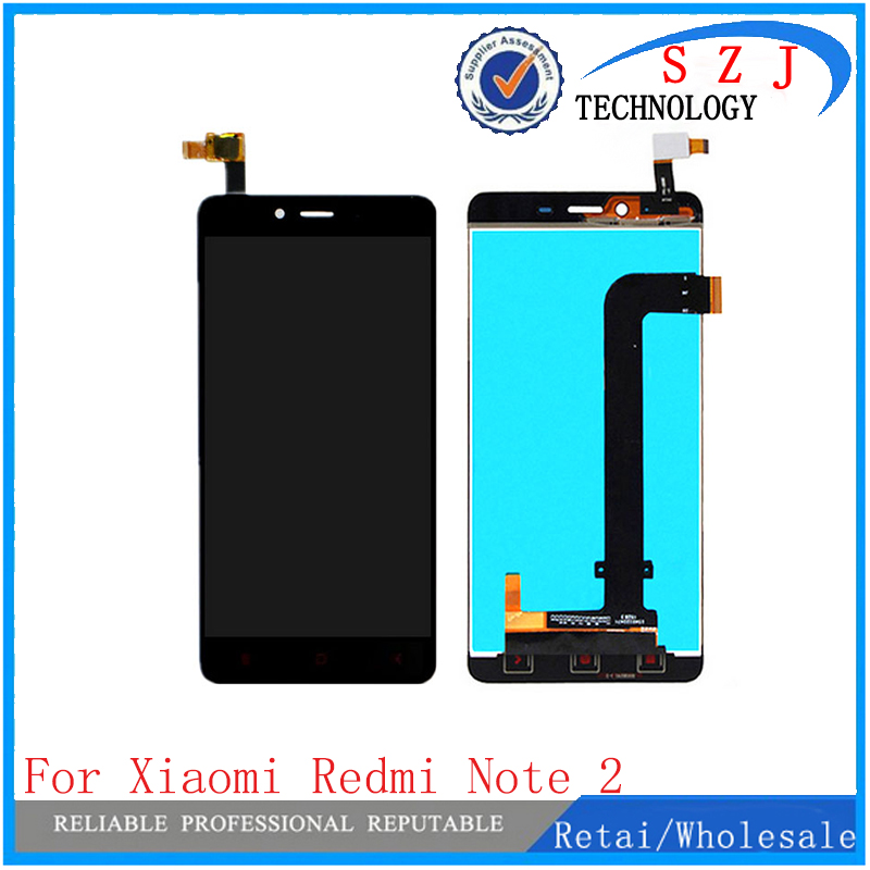 цены  New Replacement For Xiaomi Redmi Note 2 LCD Display + Touch Screen + Frame Digitizer Assembly Lcd For Hongmi Note 2