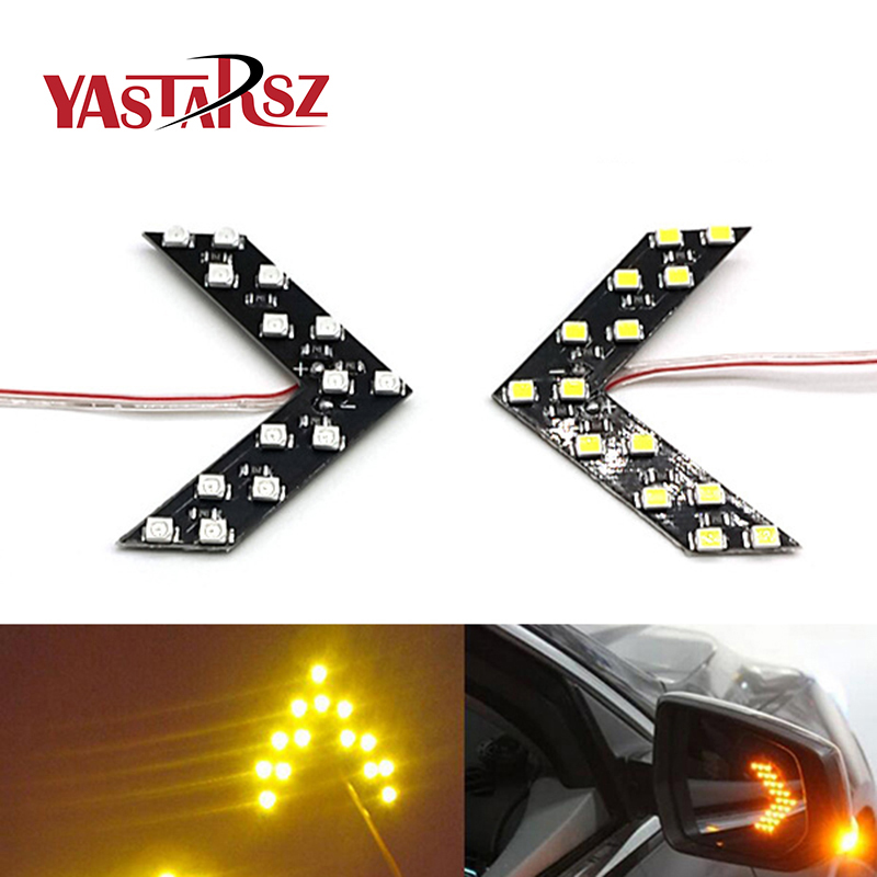 Car styling New 2Pcs 14SMD LED Arrow Panel For Car Rear View Mirror Indicator Turn Signal Light/Indicator Light/Car led/ Parking murals wall paper modern art top beach deep blue sea water ripples swim dolphins home decor ceiling large wall mural wallpaper