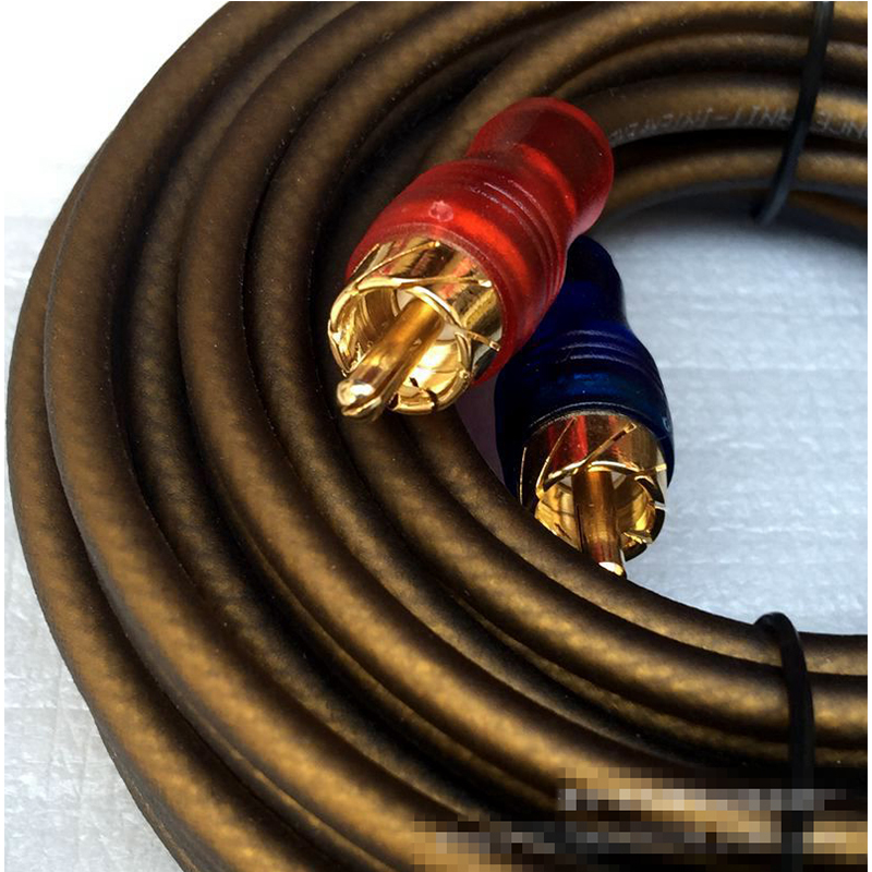 subwoofer amplificador sinal de cabo de 5