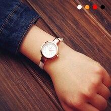 1 pc luxo nova marca de relógios relógios das senhoras das mulheres Retro PU Couro fino strap Quartz Pulseira Relógio de Pulso moda casual presente X3