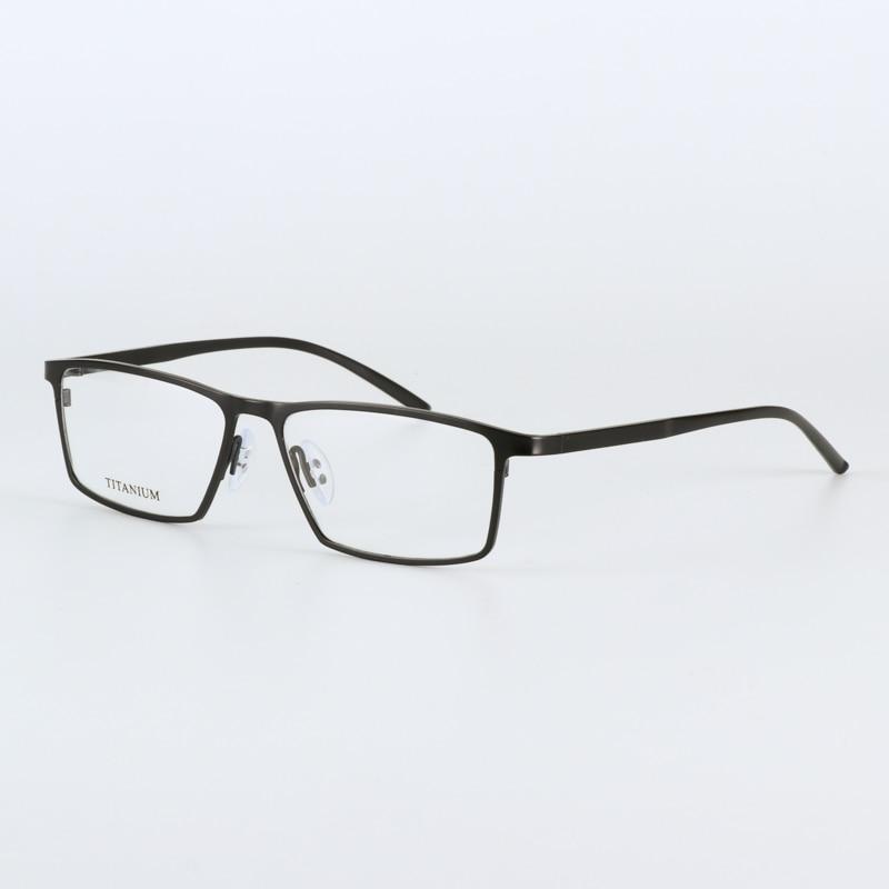 JIE.B zīmola brilles rāmis vīrieši sievietes Retro Pure titāna - Apģērba piederumi - Foto 4