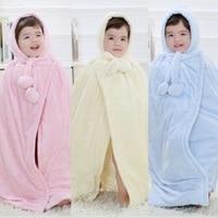 Hooyi Baby Coats Girl's Smocks Outerwear Velvet Fleece Cloak Mantle Children Poncho Cape Boys Outerwear Newborn Blanket Bathrobe