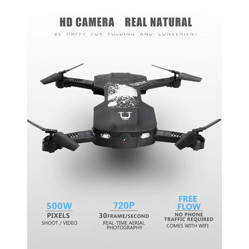 YC Folding Mini RC Drone Wifi 500W HD Camera Remote Control Kids Toys Quadcopter Helicopter Aircraft Toy Kid Air plane Gift 902s remote control drone wifi fpv rc helicopter hd camera video quadcopter kids toy drone aircraft air plan toys children gift