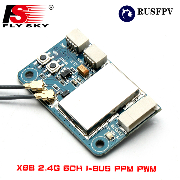 Flysky X6B 2 4G 6CH i BUS PPM PWM Receiver for AFHDS i10 i6s i6 i6x