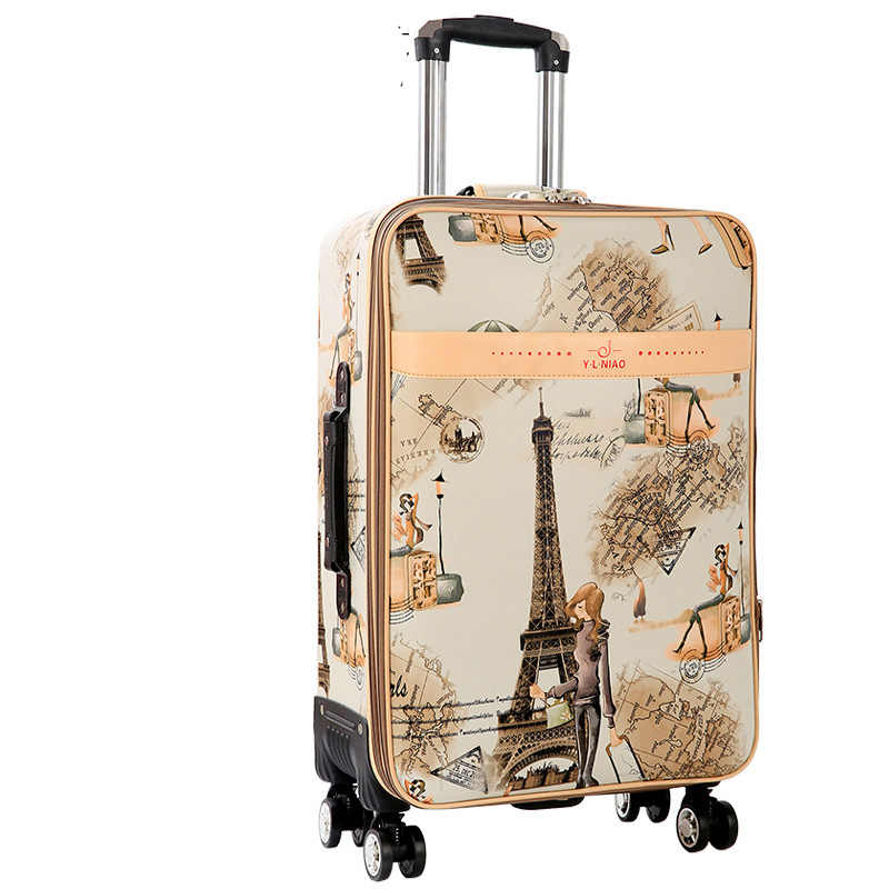 516c3de785a2 BeaSumore Rolling Luggage Spinner Fashion Tower Suitcase Wheel Password  Cabin Trolley Carry On Travel Duffle Women