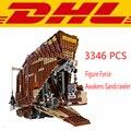 2017 Nueva lepin 05038 3346 Unids Star Wars Figura Fuerza Despierta Sandcrawler Modelo Kit de Construcción de Bloques de Ladrillos de Juguete Para Niños de Regalo 75059