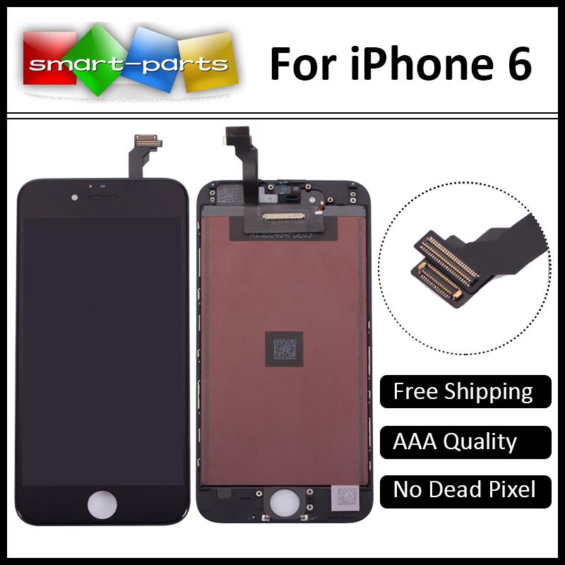 Prix pour 10 PCS 4.7 pouce Shenchao LCD Pour iPhone 6 Affichage tactile écran avec digitizer assemblée pièces de rechange Aucun Pixel Mort Grade AAA