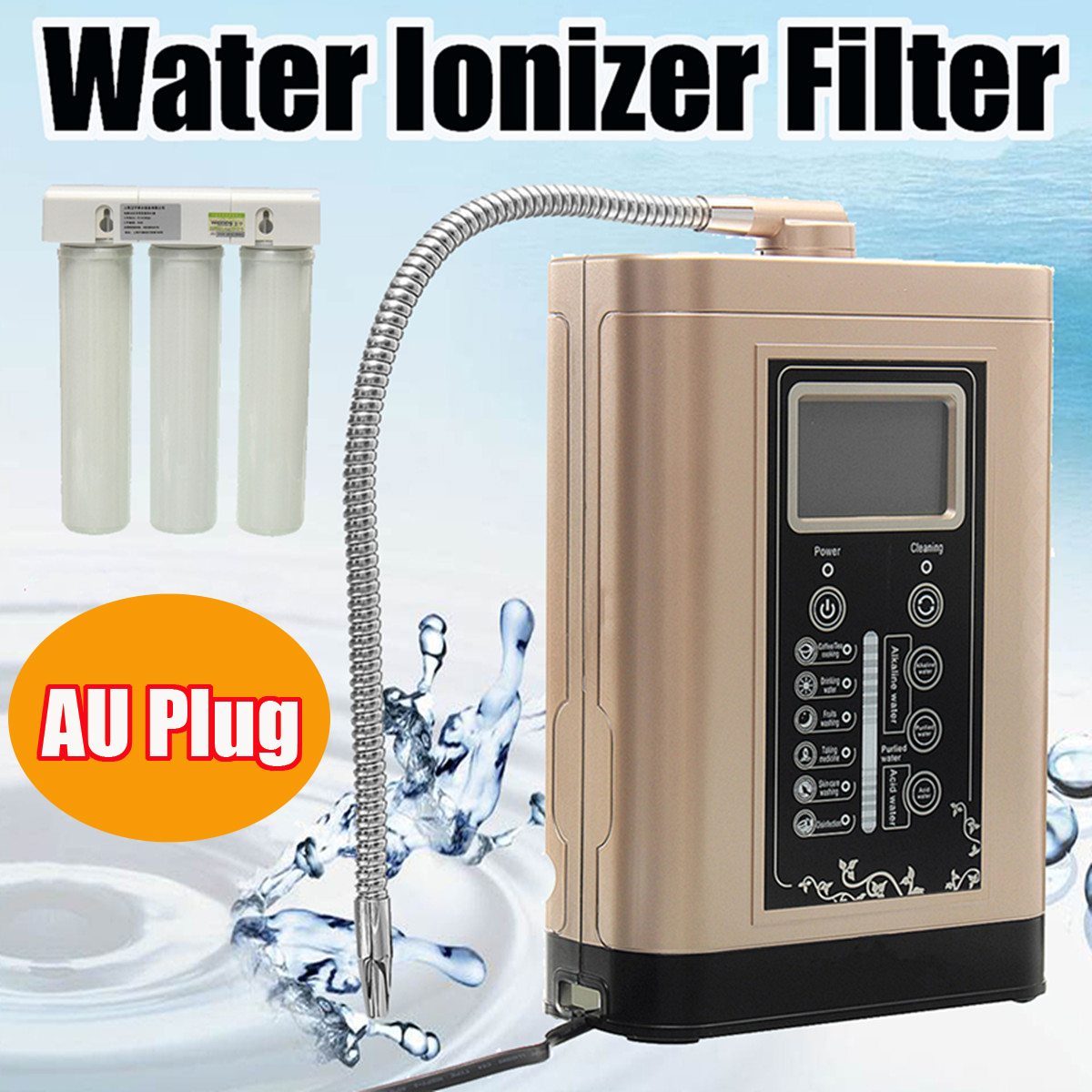 LF700 Water Ionizer Purifier LCD Tou.ch Control Alkaline Acid PH Adjust Machine 1 mode mini flashlight waterproof rechargeable flashlight tactical portable led lanterna torch built in battery for hunting