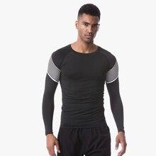 Long Sleeve Sport Shirt Men Running T-shirts Gym Sports Clothing Top Mens Sportswear Rashgard