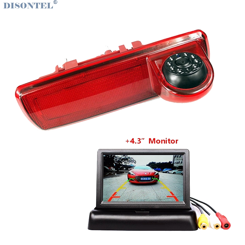 HD Car Brake Light Rear View Camera For Opel Vauxhall Vivaro Renault Traffic Reverse Camera With 4.3