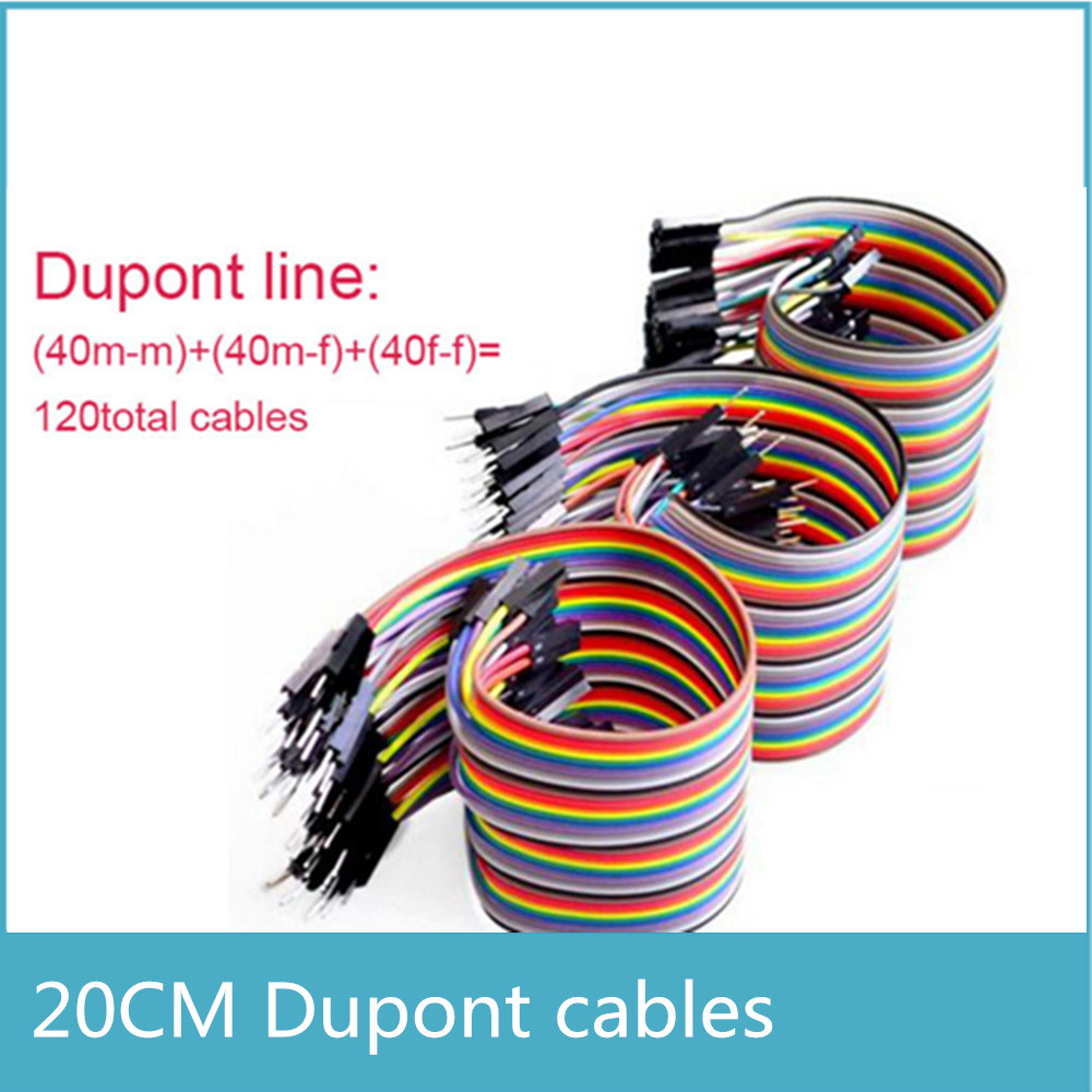 120pcs Dupont Line 20cm Male To Male And Male To Female And Female To Female Jumper Wire Dupont Cable For Arduino