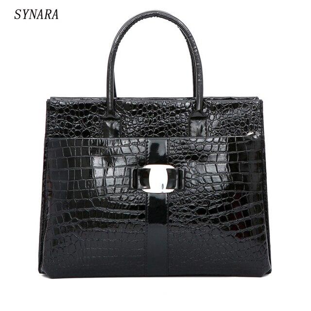 9e67deb74 Nueva moda pu cuero retro mano paquete Bolsas cocodrilo de las mujeres  embrague bolsa de mensajero