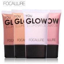 Illuminatore FOCALLURE 4 Cores Maquiagem Beleza Facial Brilho Líquido Rosto Highlighter Creme para o Brilho do Corpo Perfector Pele Cartilha