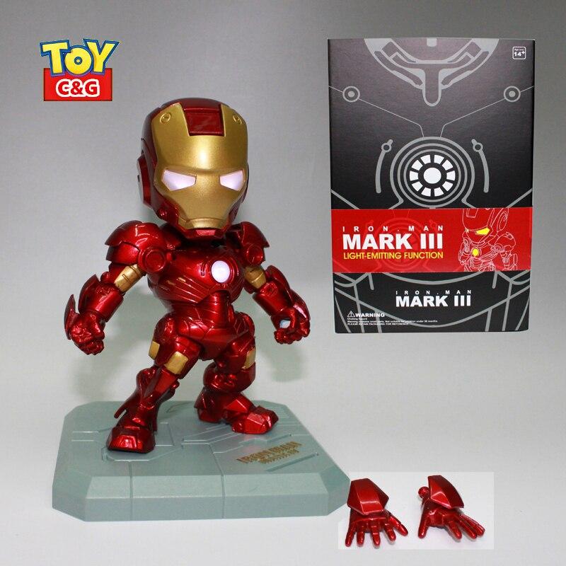 15cm Iron Man Robot Mark homem de ferro PVC Action Figure