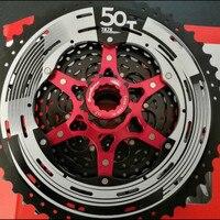 Sunrace MX80 50t MTB Cassette 11 50T 11 Speed Super Wide Ratio Range Flywheel Black Red