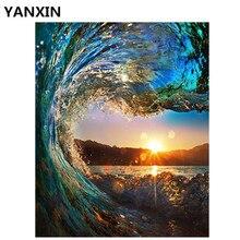 YANXIN DIYกรอบภาพวาดน้ำมันสีศิลปะผนังตกแต่งภาพสำหรับตกแต่งบ้านA003