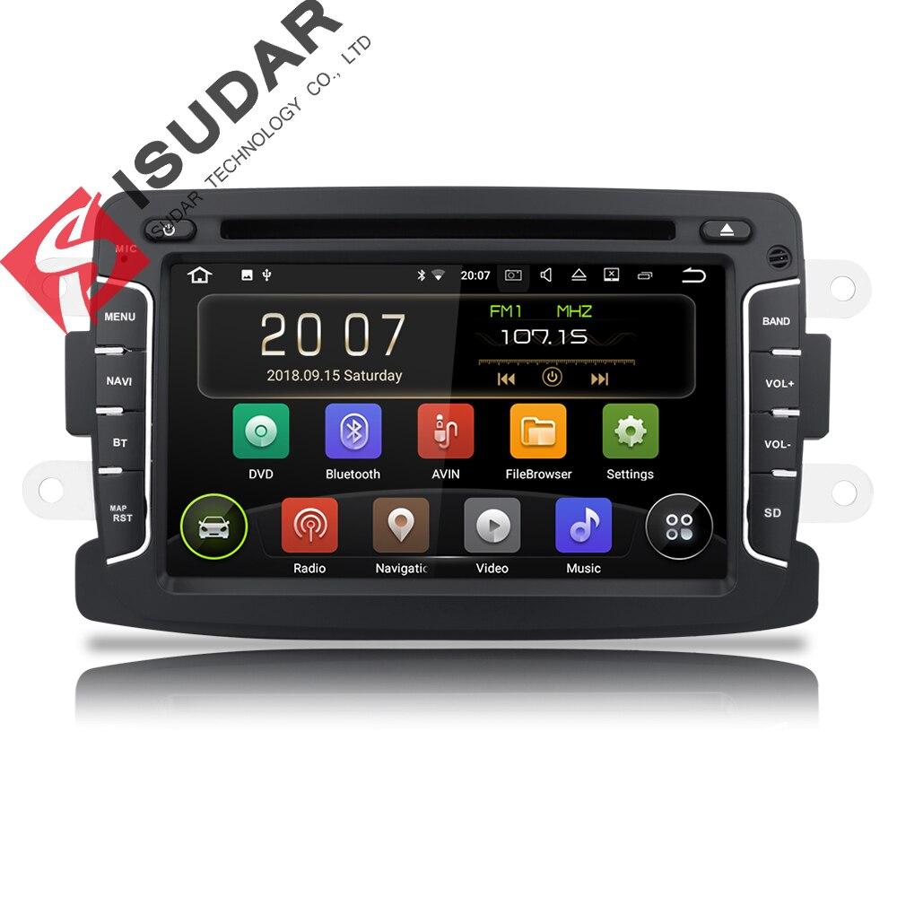 Isudar 9 2 Din Rádio Auto Android Para Dacia/Sandero/Espanador/Renault/Captur/Lada/ xray 2/Logan2 Multimídia Player De Vídeo Do Carro GPS DVR