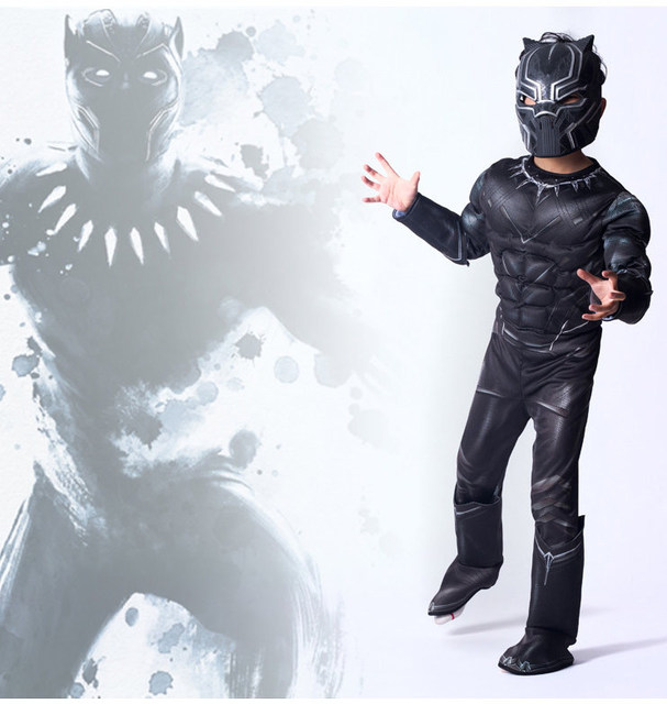 a32499b8 US $12.66   2018 Black Panther Cosplay Halloween Costumes Child kids Onesie  Bodysuit Jumpsuit Latex Masks Workout Clothes Free Shopping on ...