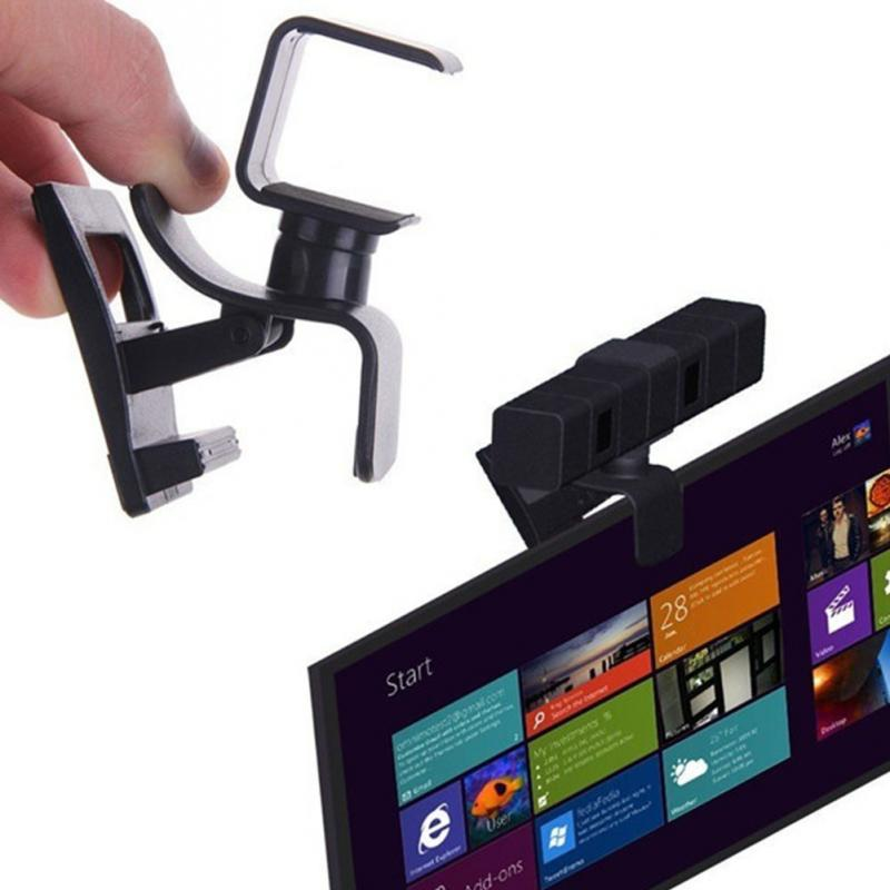 Universal Portable TV Clip Monitor For Playstation 4 PS4 Eye Camera Mount Holder Stand Adjustable