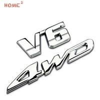 Car Sticker For V6 4WD Toyota Highlander Hyundai Ford Explorer Edge Volkswagen CC B7L Auto Metal