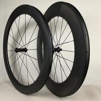 700C Carbon Wheelset Clincher or Tubular Road Bike Carbon Wheels