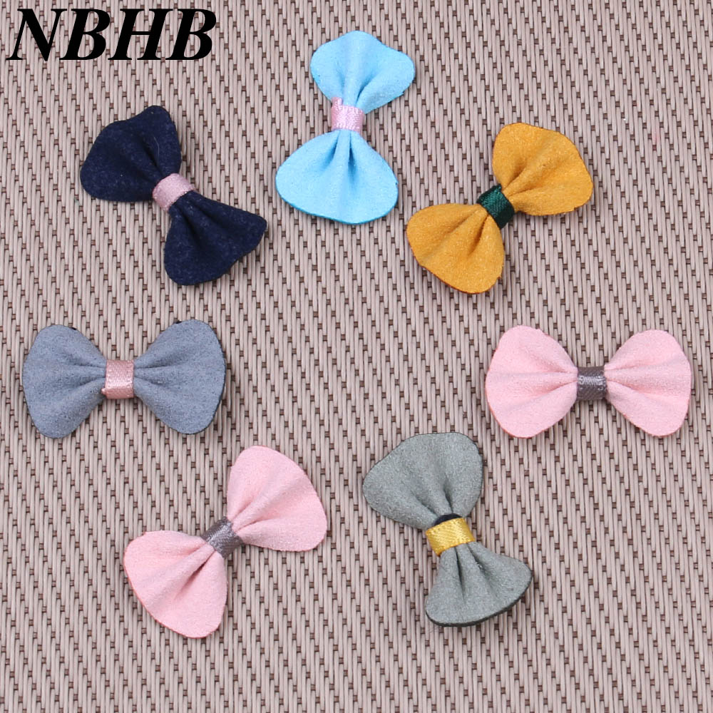 NBHB 100pcs lot Bow Tie Wedding Party Decoration Satin Ribbon Invitation  Card Gift Wrapping Scrapbooking 2a80340eec79