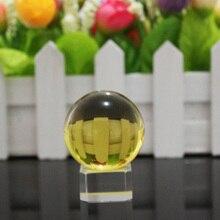 JQJ цельнокроеное платье хрустальный шар 40 мм желтый Дети магия Игровые Мячи Главная Декоративные Стекло мрамор Глобусы фэн-шуй ремесла подарок Украшения